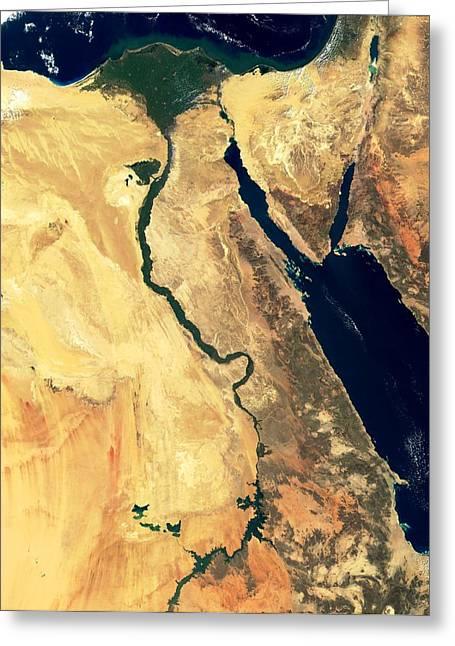 River Nile Greeting Cards - River Nile Greeting Card by Nasa