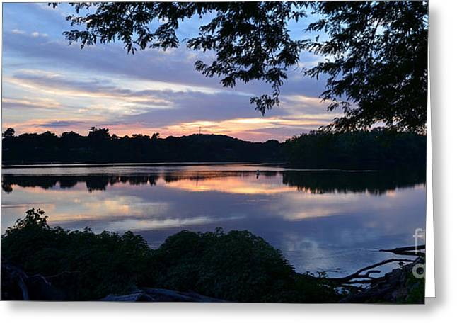 Peaceful Scenery Greeting Cards - River Of Tranquility Greeting Card by Sue Stefanowicz