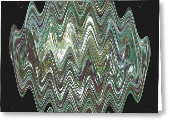 Oil Slick Greeting Cards - River Oil Slick Greeting Card by Michelle  BarlondSmith
