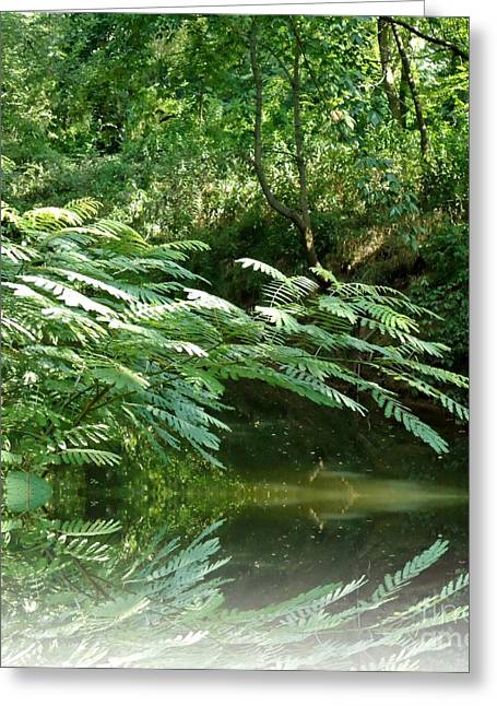 Crick Greeting Cards - River Reflections Greeting Card by Karen Wallace