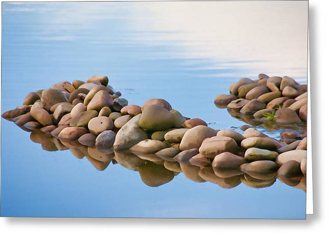 Wildlife Preserve Greeting Cards - River Rocks Greeting Card by Bonnie Bruno