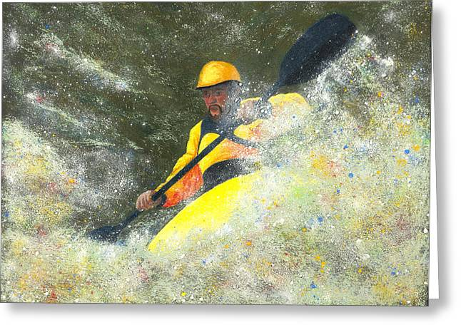 Francis Pastels Greeting Cards - River Runner Greeting Card by Garry McMichael