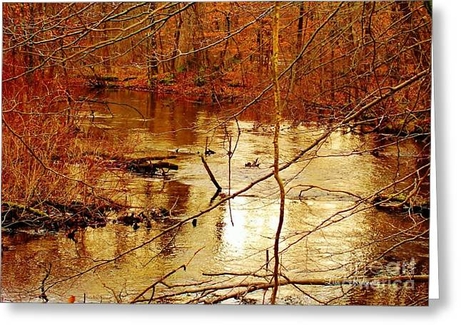 Family Walks Mixed Media Greeting Cards - River Russel Greeting Card by Lisa  Ridgeway