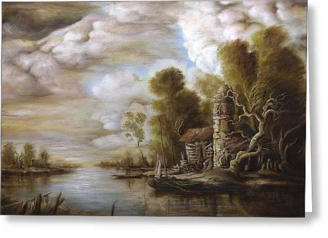 River Scene 4 Greeting Card by Dan Scurtu