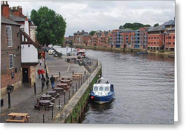 Counterpoint Greeting Cards - River Scene York England Greeting Card by Marcus Dagan