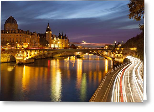 River Seine And The Concierge Greeting Card by Brian Jannsen