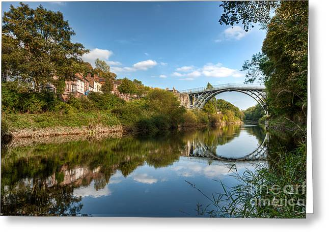 Coalbrookdale Greeting Cards - River Severn Greeting Card by Adrian Evans