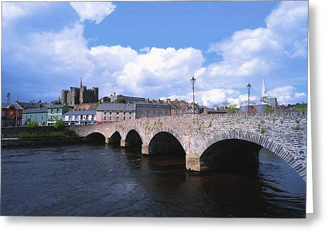River Slaney, Enniscorthy, Co Wexford Greeting Card by The Irish Image Collection