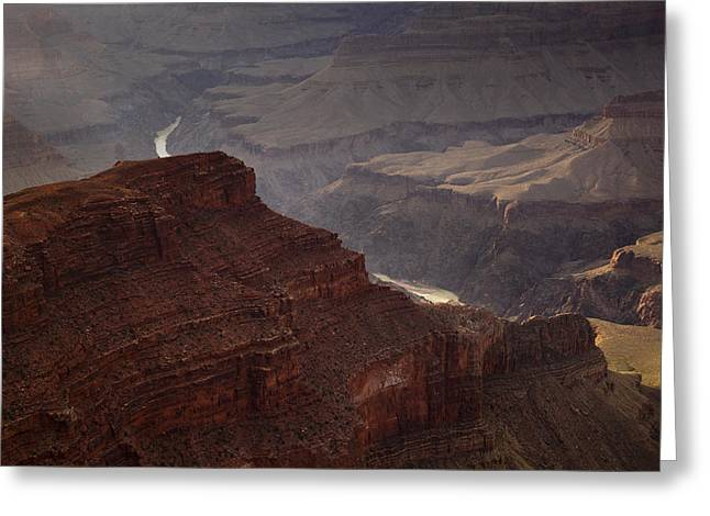 River through the Canyon Greeting Card by Andrew Soundarajan