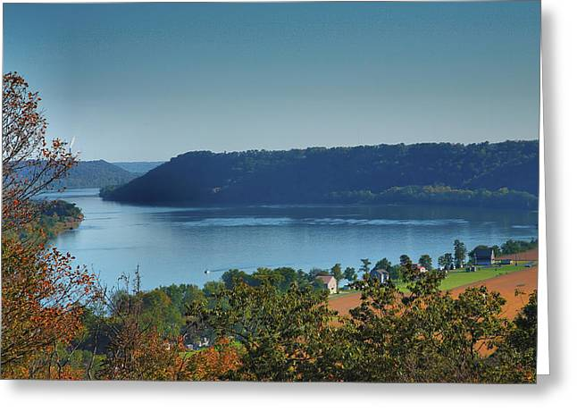 Hanover College Greeting Cards - River View III Greeting Card by Steven Ainsworth