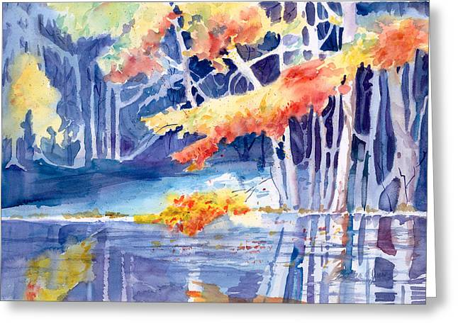 Braches Greeting Cards - River Walk   in Fall Greeting Card by Barbara Jung