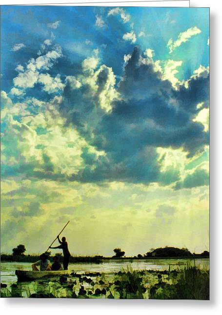 Zambezi River Greeting Cards - Rivercloud Greeting Card by Douglas Barnard