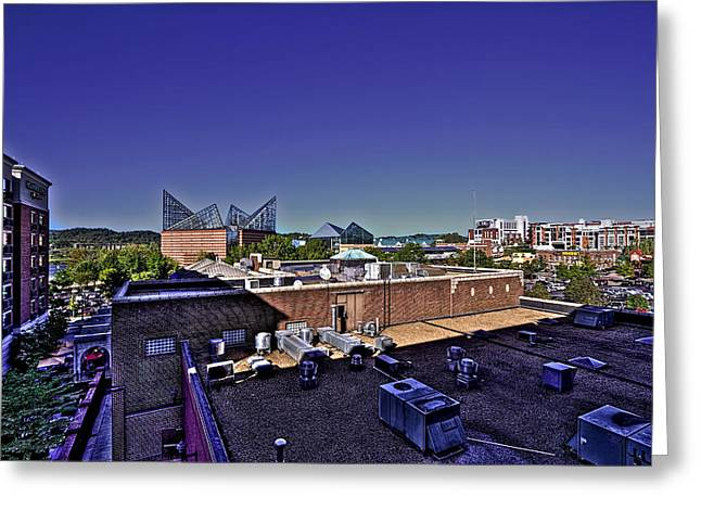 Tennessee River Greeting Cards - Riverfront Chattanooga HDR Greeting Card by Jason Blalock