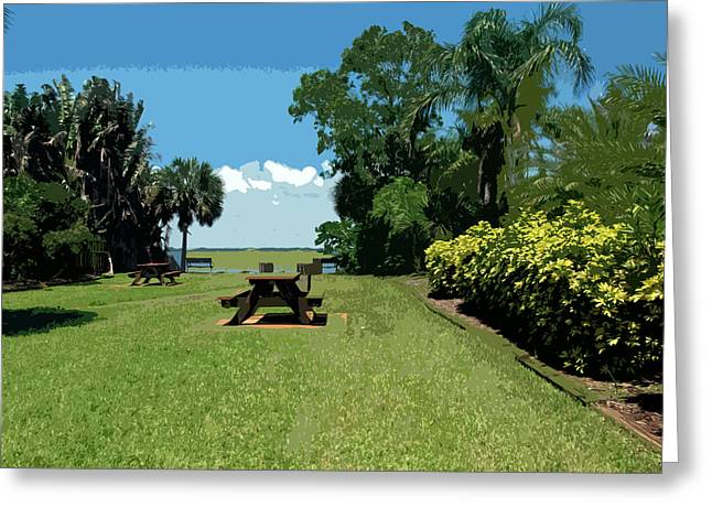 Senic View Greeting Cards - Riverfront on the Eastern shore of the Indian River Lagoon in Fl Greeting Card by Allan  Hughes