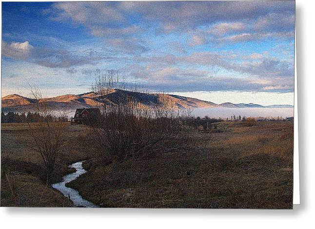 Destiny Greeting Cards - Rivers End.. Greeting Card by Al  Swasey