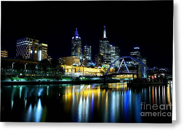 Long Street Greeting Cards - Riverside Greeting Card by Andrew Paranavitana