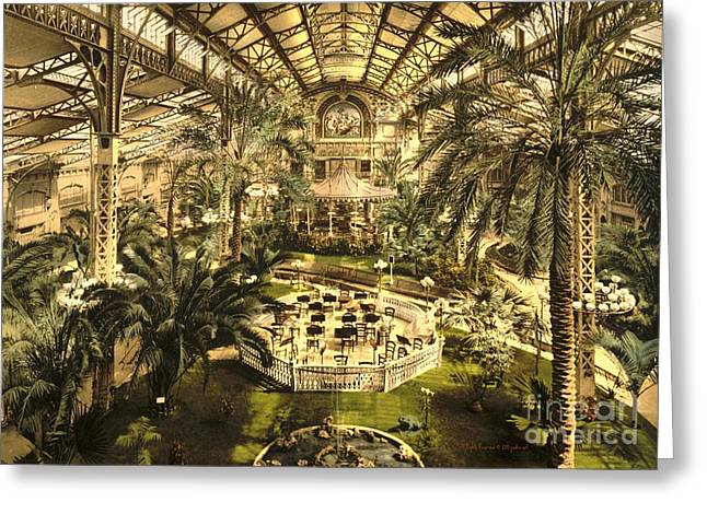 Orchestra Pit Greeting Cards - Riviera Winter Garden in Nice Greeting Card by Padre Art