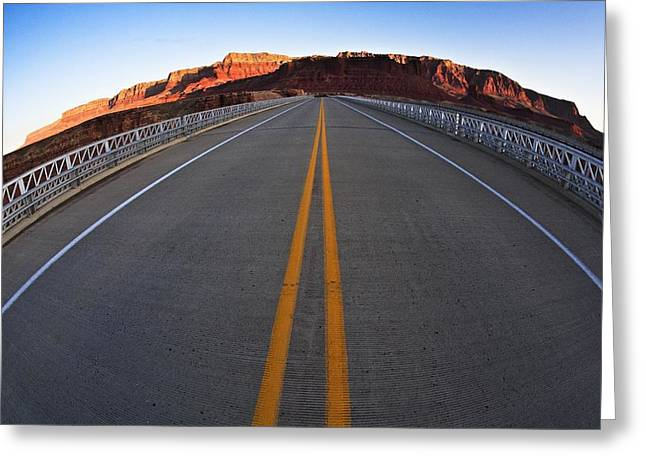 The Grand Canyon Greeting Cards - Road In The Grand Canyon, Arizona, Usa Greeting Card by Richard Wear