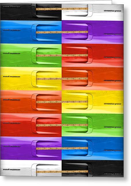 Lemon Art Digital Art Greeting Cards - Road Runner Rainbow Greeting Card by Gordon Dean II