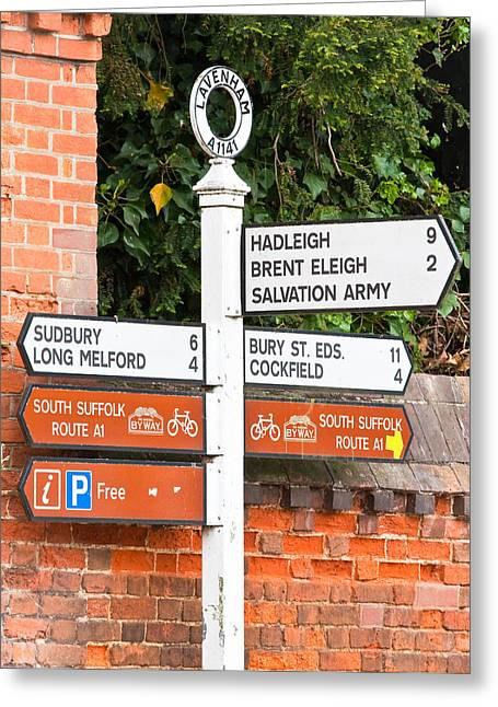 East Anglia Greeting Cards - Road signs Greeting Card by Tom Gowanlock