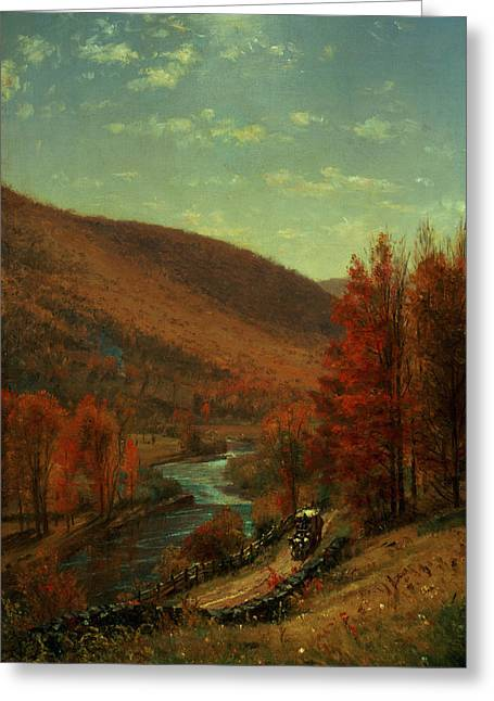 Stream Greeting Cards - Road Through Belvedere Greeting Card by Thomas Worthington