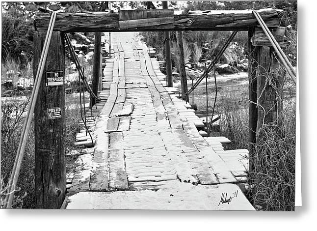 No Trespassing Greeting Cards - Road to NoWhere Greeting Card by Chris Multop