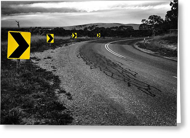 Greyscale Greeting Cards - Road to Nowhere Greeting Card by Kelly Jade King