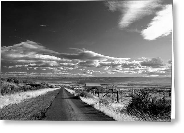 James Geddes Greeting Cards - Road to the Forthcoming Past Greeting Card by James Geddes