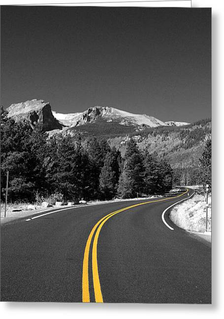 Greeting Cards - Road to the Rockies Greeting Card by Holger Ostwald