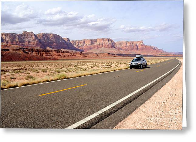 Cliff Lee Greeting Cards - Road Trip through Vermilion Cliffs National Monument Greeting Card by Gary Whitton
