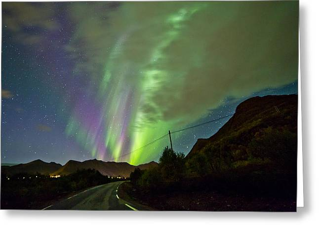 Sortland Greeting Cards - Road View Greeting Card by Frank Olsen