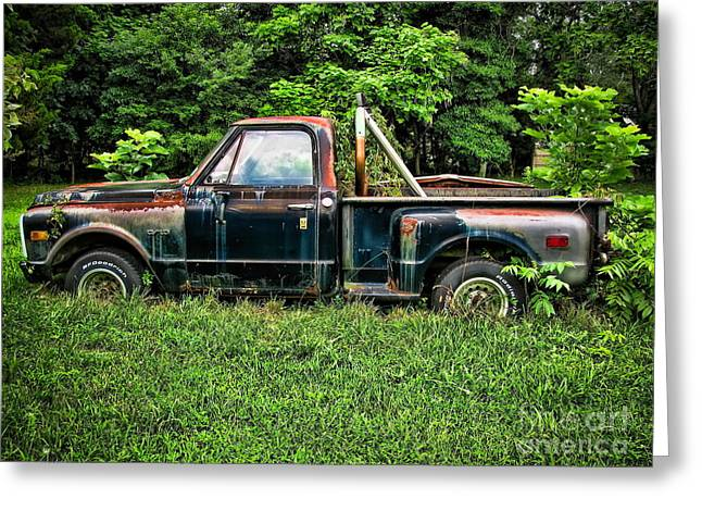 Old Trucks Greeting Cards - Road Warrior Greeting Card by Colleen Kammerer