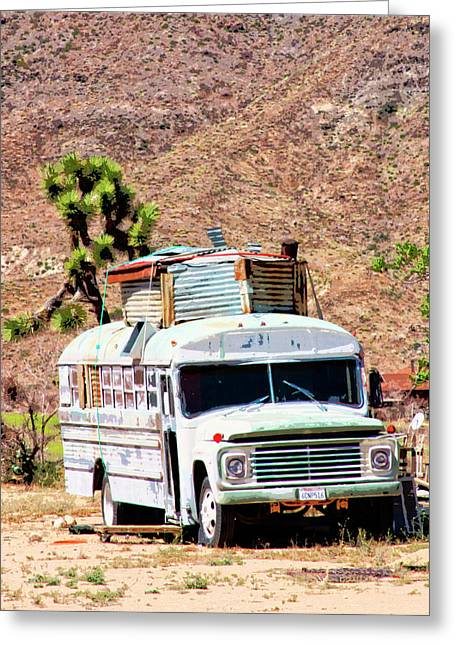 Pioneertown Greeting Cards - Road Warrior Greeting Card by William Dey