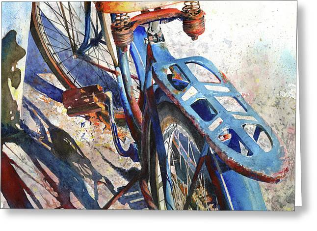 Bicycling Greeting Cards - Roadmaster Greeting Card by Andrew King