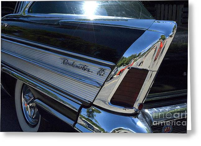Roadmaster Tail Fin And Tail Light Greeting Card by Bob Christopher