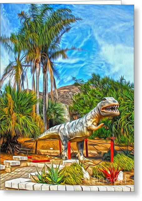 Roadside Raptor Greeting Card by Gregory Dyer