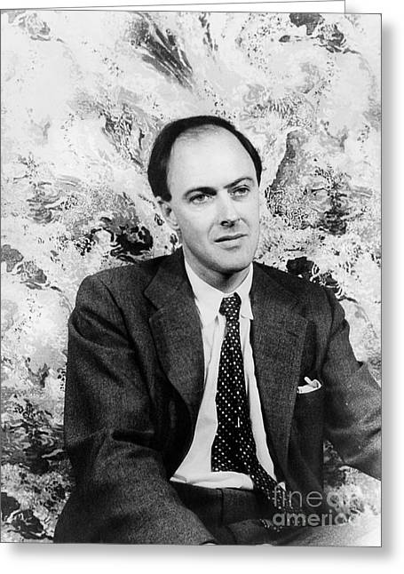 Roald Dahl Greeting Cards - Roald Dahl (1916-1990) Greeting Card by Granger