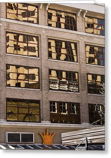 Reflection In Glass Greeting Cards - Roanoke Reflection Greeting Card by Teresa Mucha
