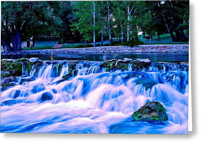 Waterfall Greeting Cards - Roaring Beauty Greeting Card by Joshua Dwyer