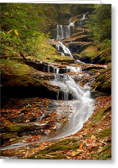 Beautiful Creek Greeting Cards - Roaring Fork Falls Greeting Card by Joye Ardyn Durham