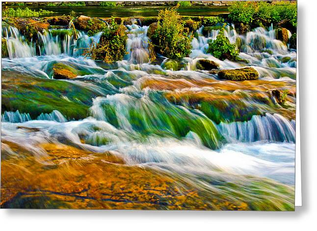 Water Greeting Cards - Roaring Rapids Greeting Card by Joshua Dwyer