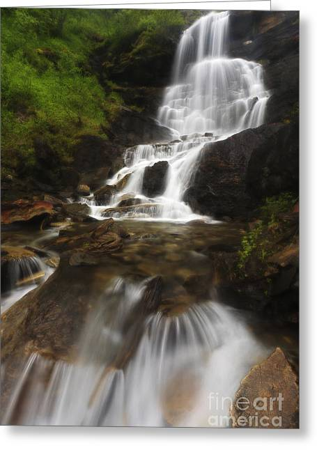 Nordland County Greeting Cards - Roasto Falls In Nordland County, Norway Greeting Card by Arild Heitmann