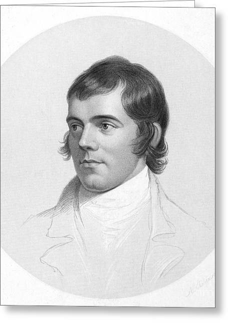 Sideburns Greeting Cards - Robert Burns (1759-1796) Greeting Card by Granger