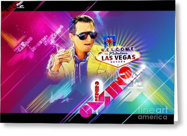 Metallica Greeting Cards - Robert De Niro Casino Poster Greeting Card by Jeff Steed