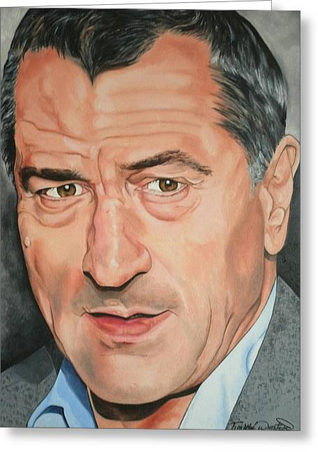 Portraits By Timothe Greeting Cards - Robert DeNiro Greeting Card by Timothe Winstead