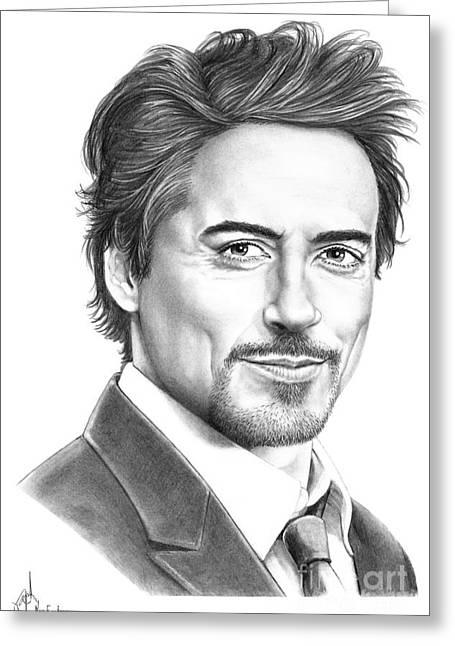 Robert Downey Jr. Greeting Card by Murphy Elliott