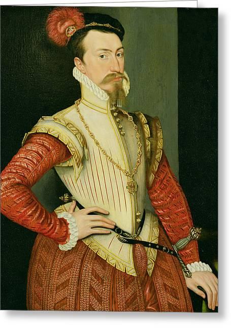 Robert Dudley - 1st Earl Of Leicester Greeting Card by Steven van der Meulen