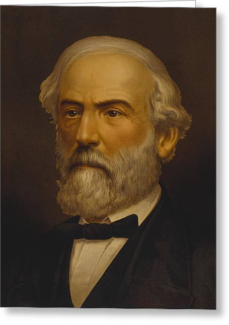 The General Lee Paintings Greeting Cards - Robert E Lee Greeting Card by War Is Hell Store