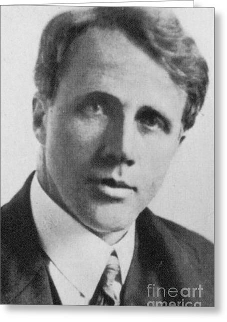 Pulitzer Greeting Cards - Robert Frost, American Poet, Circa 1910 Greeting Card by Science Source