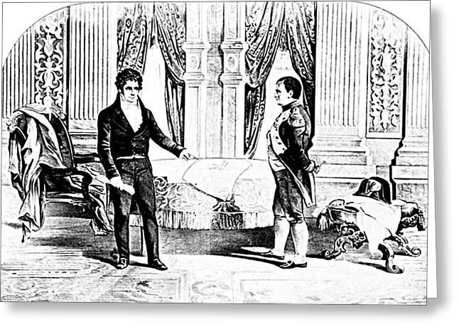 Reform Greeting Cards - Robert Fulton And Napoleon I, 1804 Greeting Card by Photo Researchers